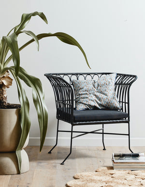 Black Scalloped PE Lounge Chair PRE ORDER MAY