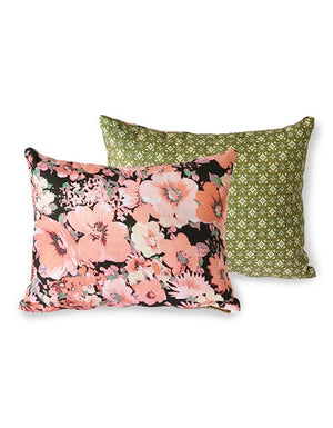 Coral Flower Print Double Sided Cushion.  PRE ORDER NOVEMBER