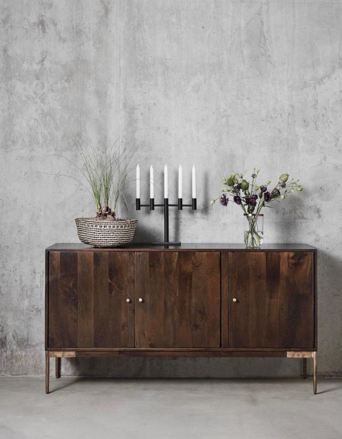Dark Wood Side Table The Forest Co