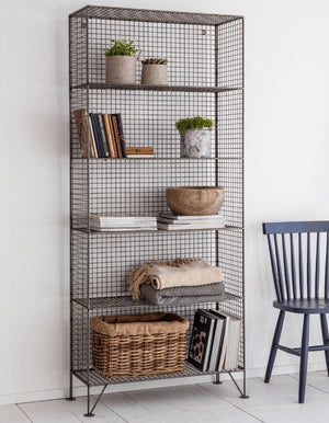 Grey Mesh Tall Industrial Storage Unit