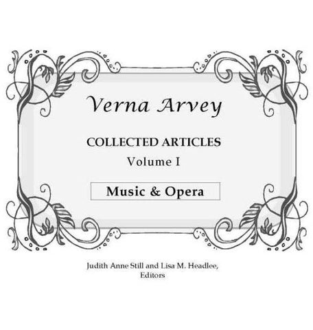 Verna Arvey Collected Articles Vol 1