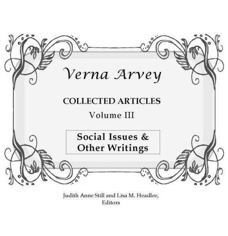 Verna Arvey Collected Articles Vol 3