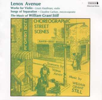 Lenox Avenue: The Music of William Grant Still CD