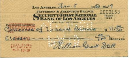 William Grant Still Souvenir Signature