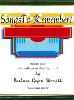 Barbara Sherrill Teaching Pieces - Songs to Remember