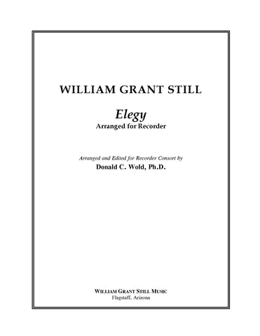 Elegy - Arrangement - Score and Parts (recorder ensemble)