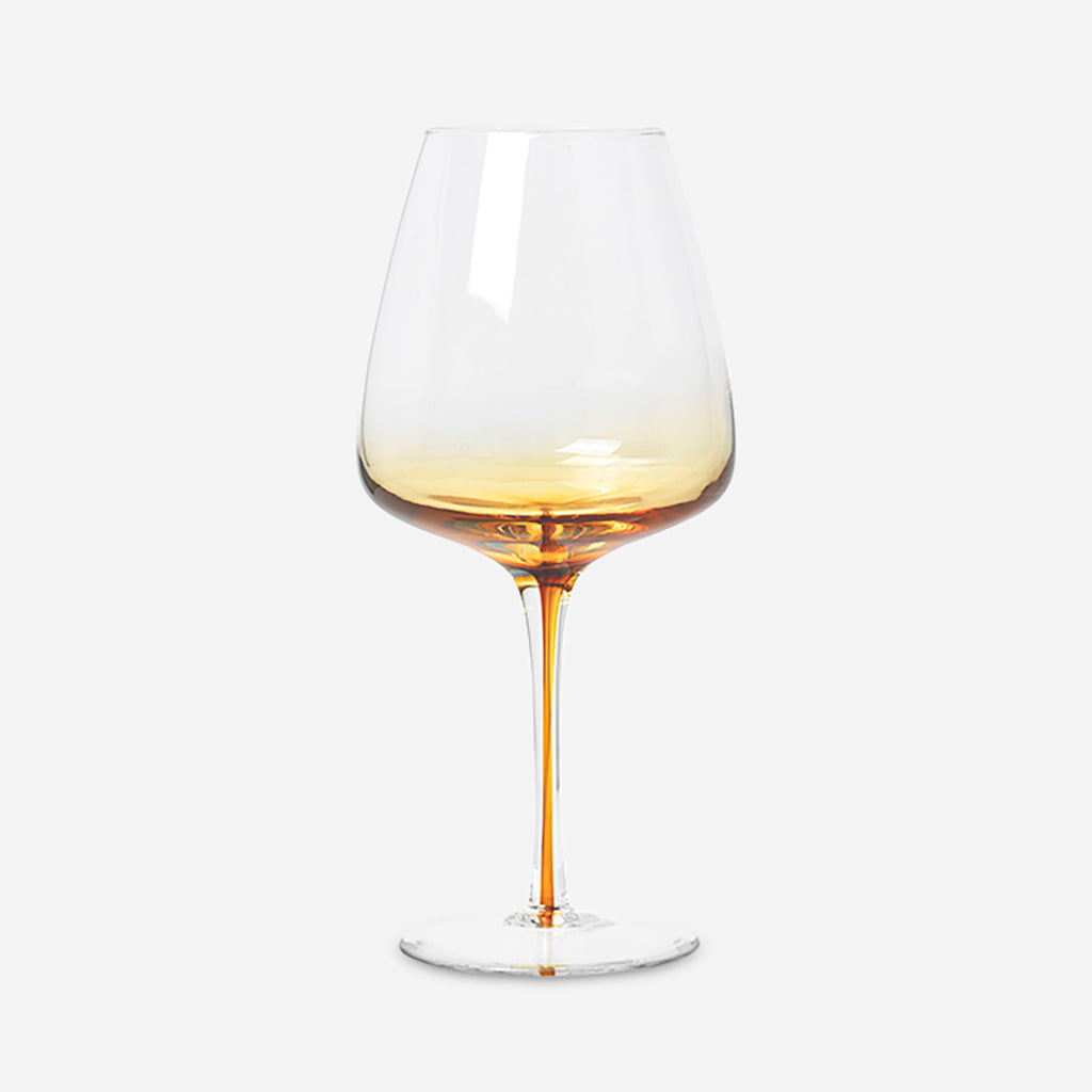 Amber Red Wine Glass - Buy online or shop in the Jo & Co Lifestyle, Home and Furniture store in Wadebridge, North Cornwall, UK