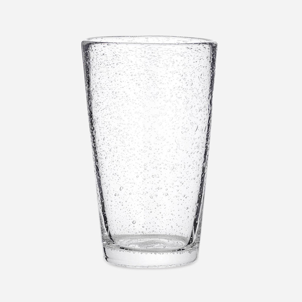 Tall Clear Bubble Water Glass