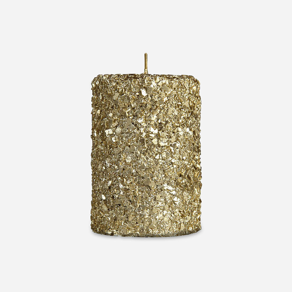 Small Gold Pillar Candle
