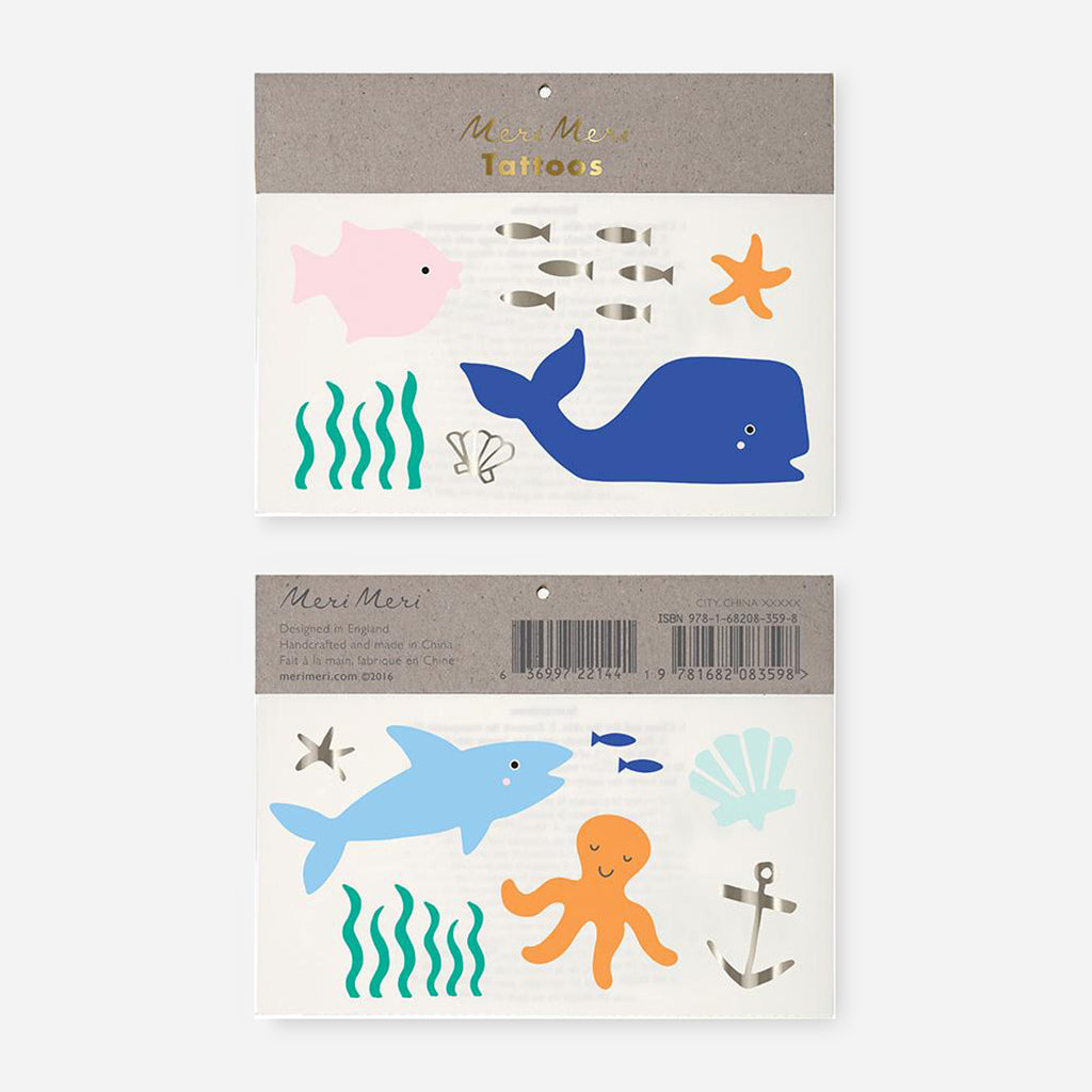 Meri Meri Under the Sea Temporary Tattoos