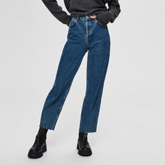 Selected Femme Kate Straight Cruz Medium Blue Jeans