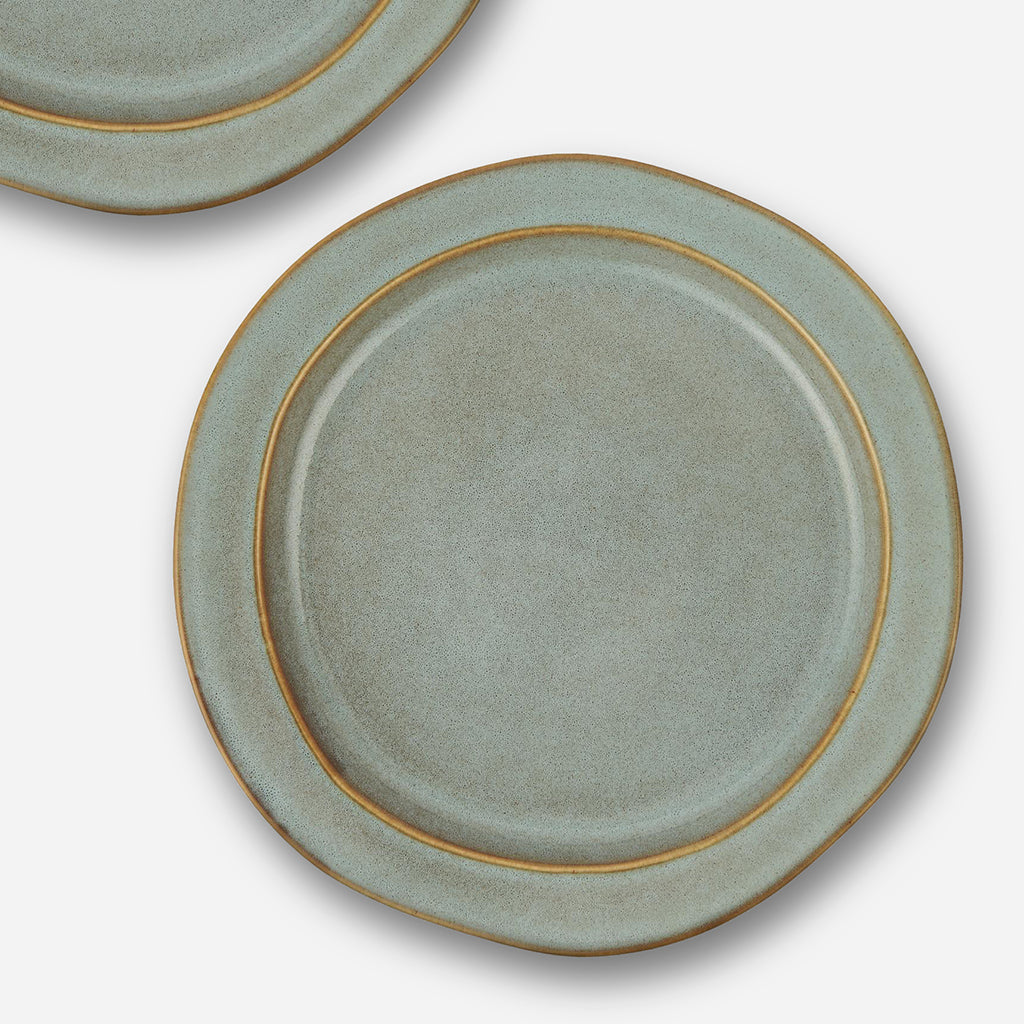 Light Blue Dunes Stoneware Lunch Plate
