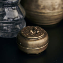 Linna Small Brass Storage Pot