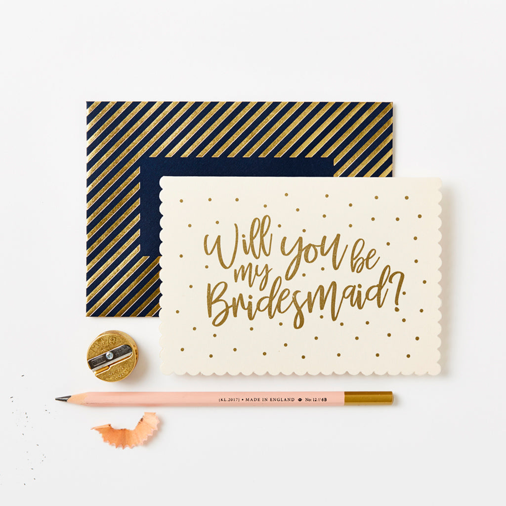Katie Leamon Will You Be My Bridesmaid Greetings Card