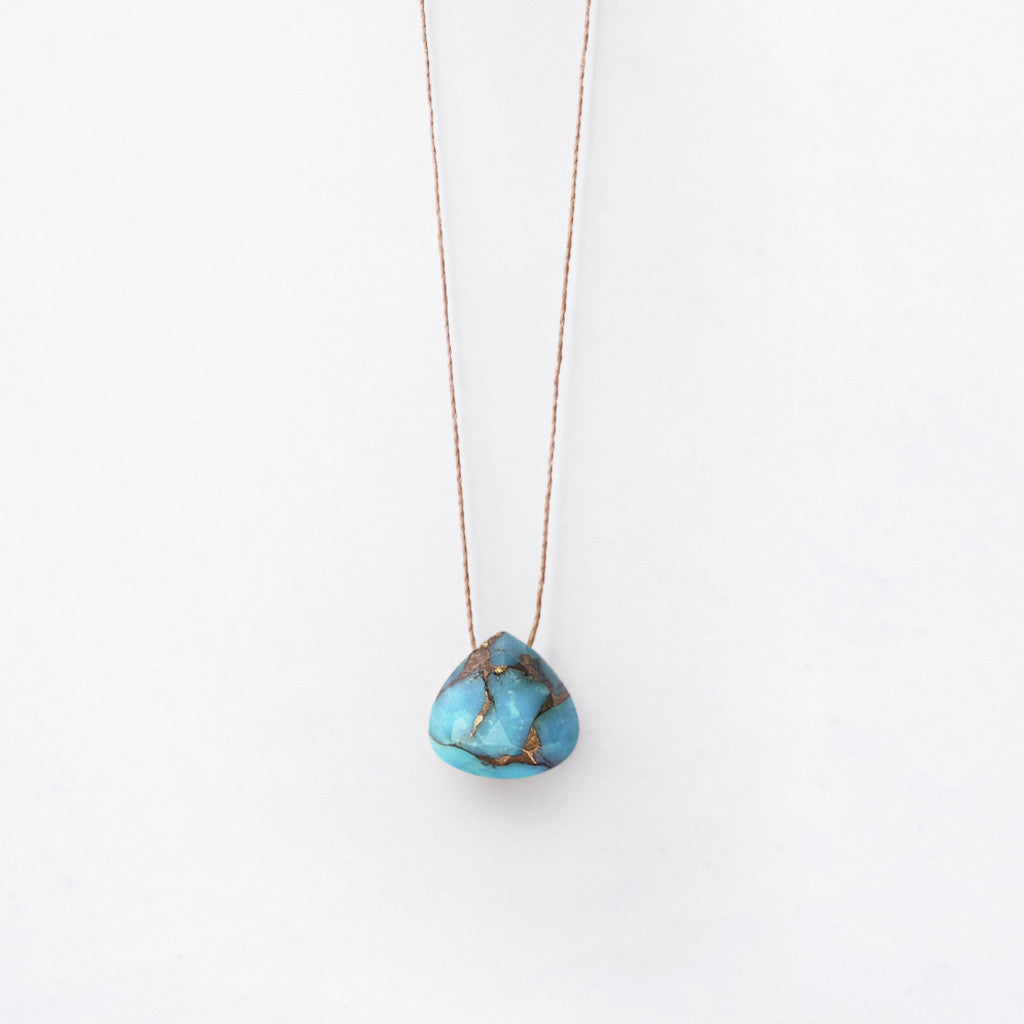 Wanderlust Life Mohave Turquoise Necklace - Perfect understated bohemian style - Shop the jewellery range at Jo & Co Home, Cornwall