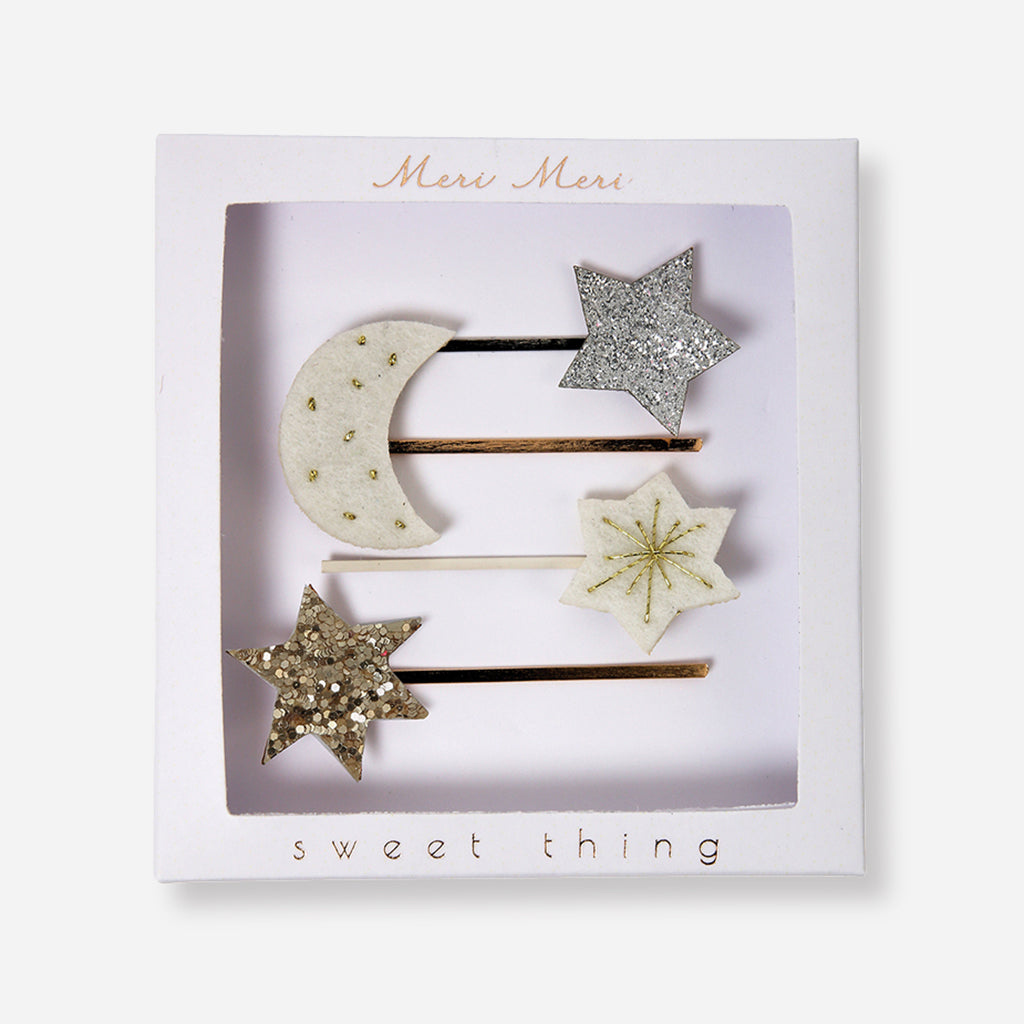 Meri Meri Moon & Star Hair Pins