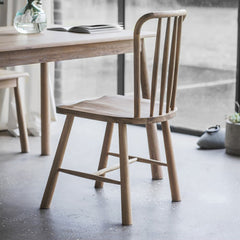 Highgate Oak Dining Chairs - Set Of Two