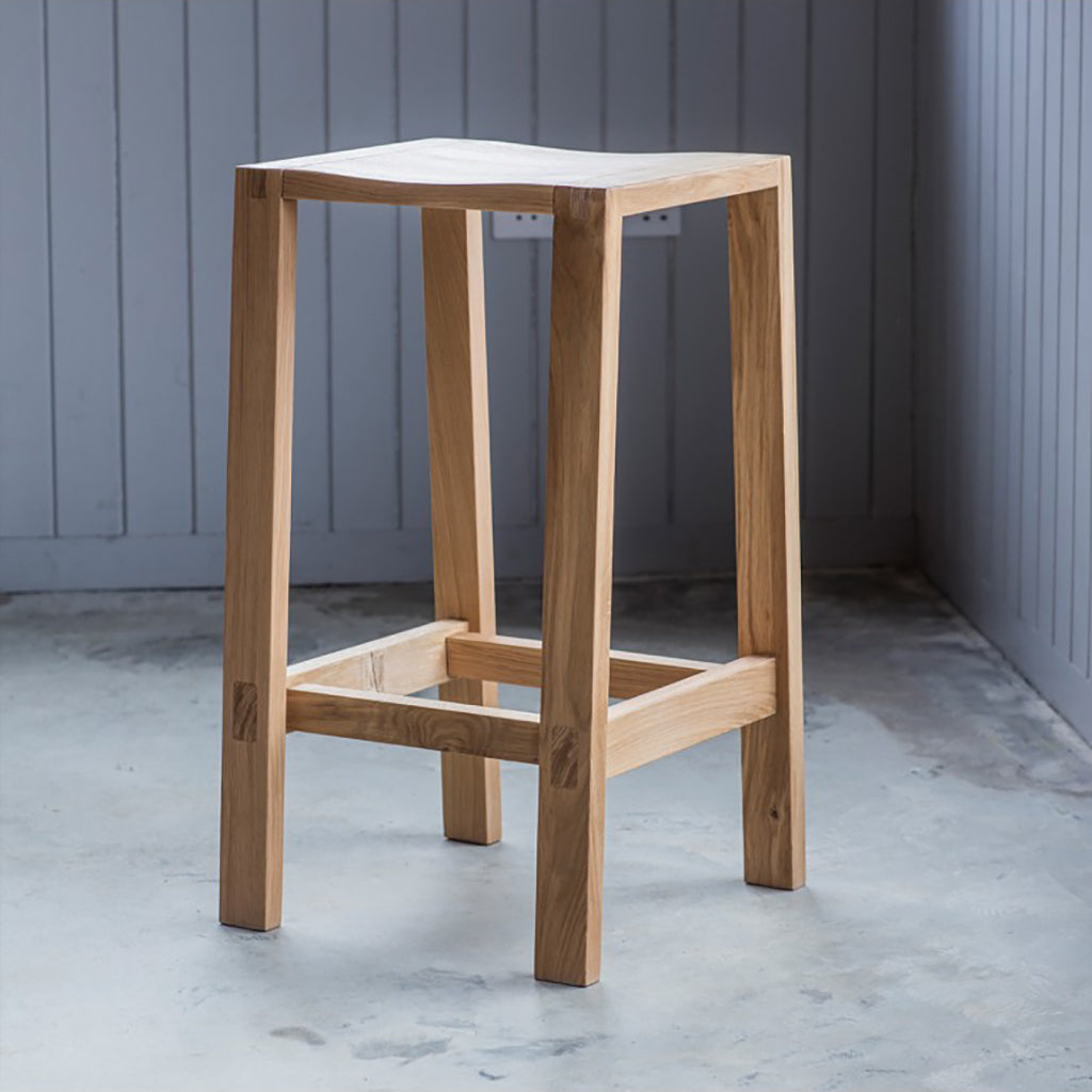 Solid Oak Contemporary Bar Stool Jo Co Home