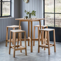Solid Oak Contemporary Bar Stool