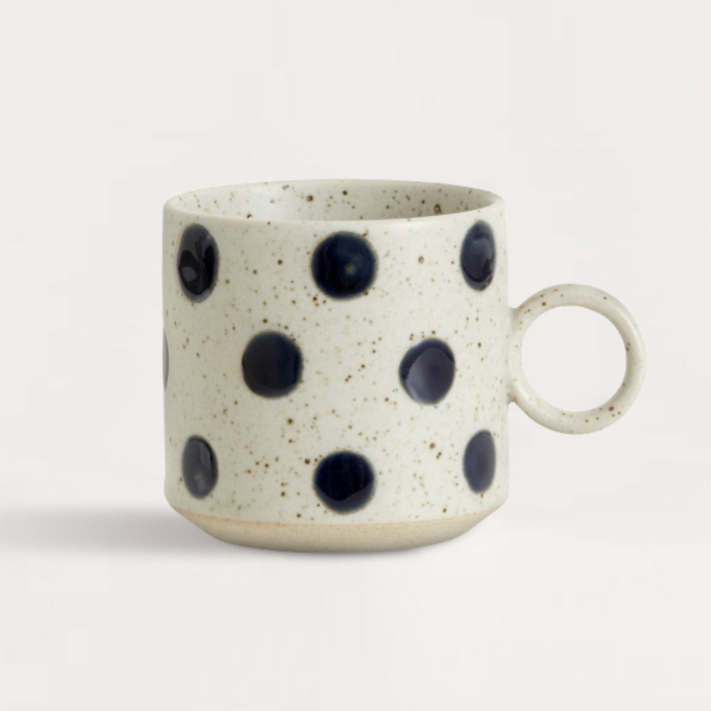 Grainy Dot Porcelain Cup