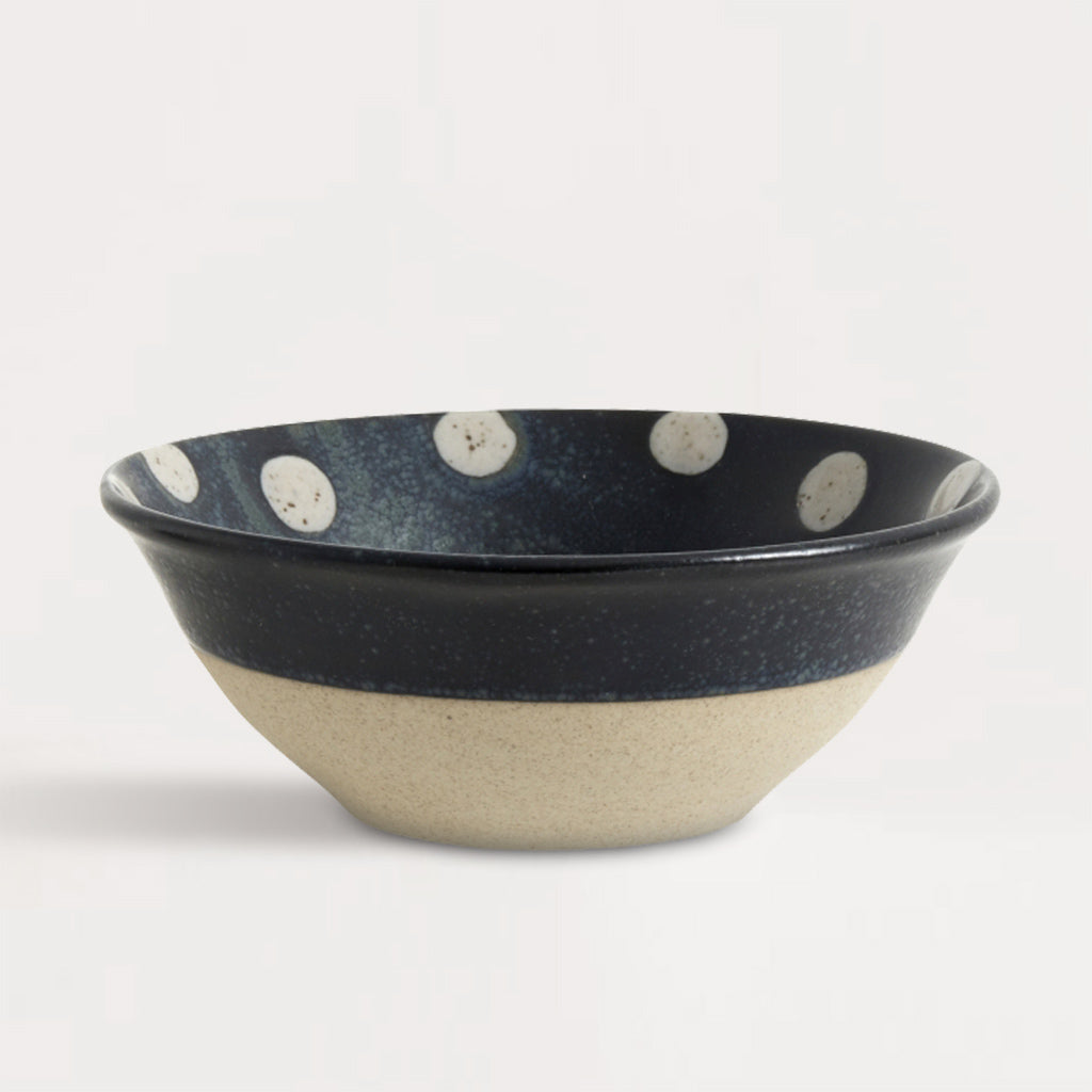 Grainy Dark Blue & Sand Dot Bowl