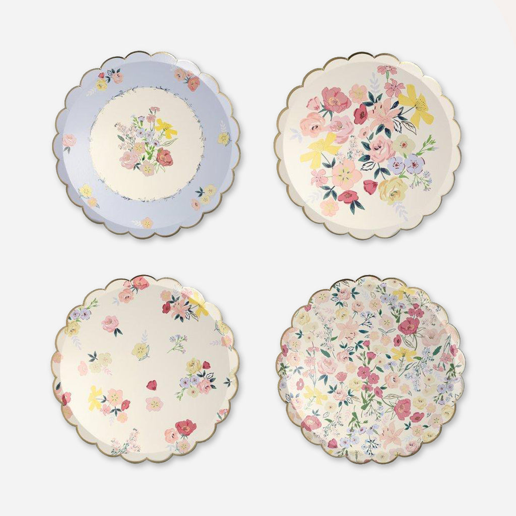 Meri Meri English Garden Party Paper Side Plates - Pack of 8