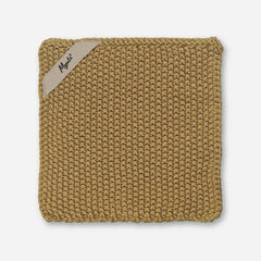 Mynte Mustard Yellow Knitted Pot Holder