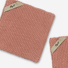 Mynte Desert Rose Pink Knitted Pot Holder