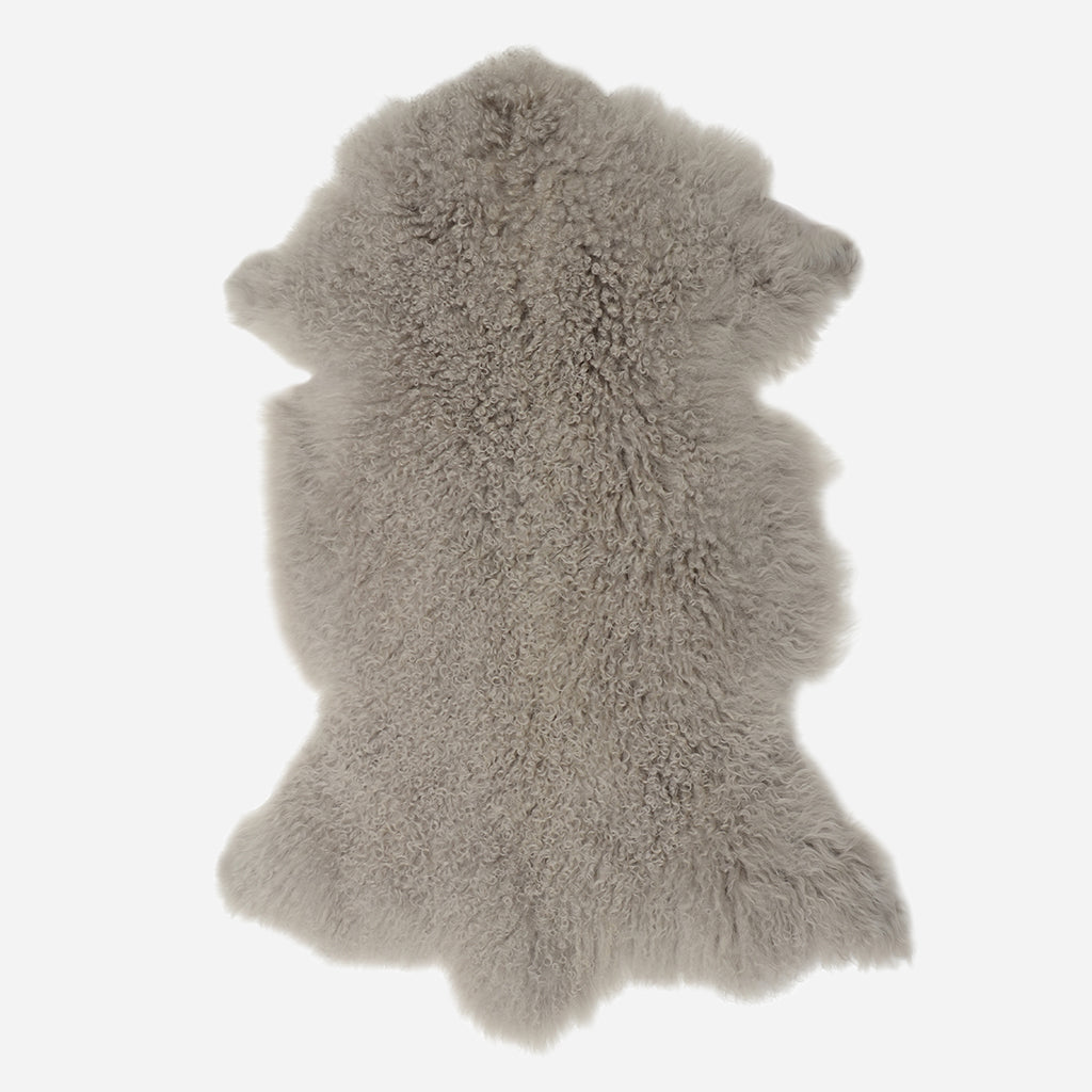 Tibetan Lamb Fur in Light Grey