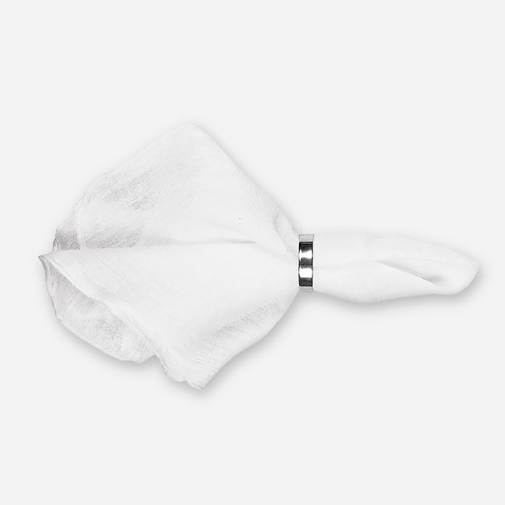Gracie Pure White Eco Friendly Linen Napkin