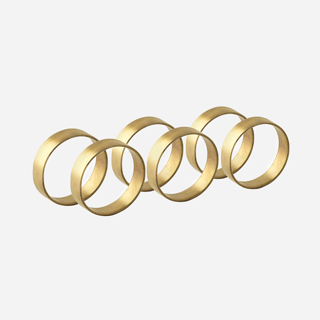 Brass Napkin Ring - Set Of 6