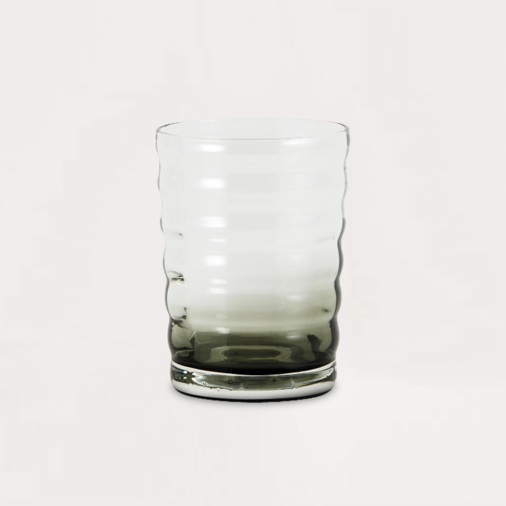 Jog Clear Black Drinking Glass