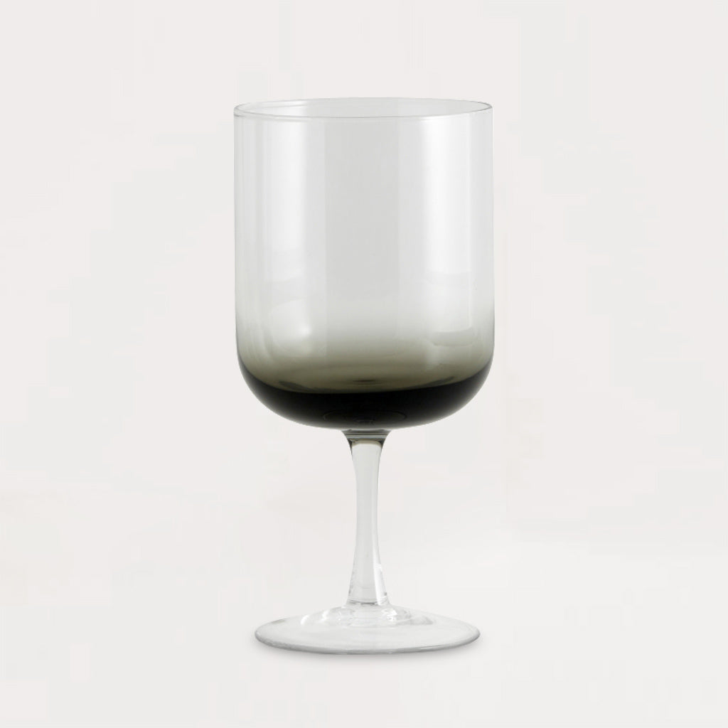 Jog Clear Black Red Wine Glass