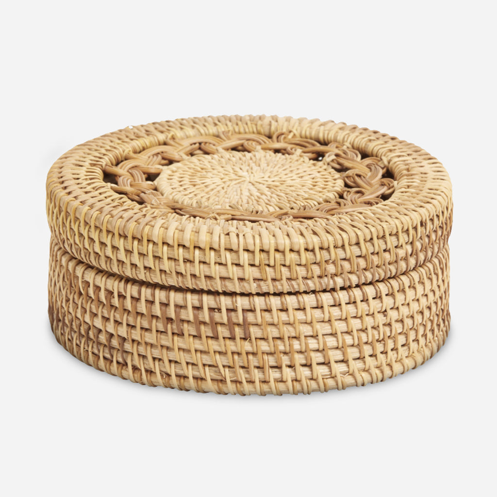 Boxi Small Braided Rattan Box