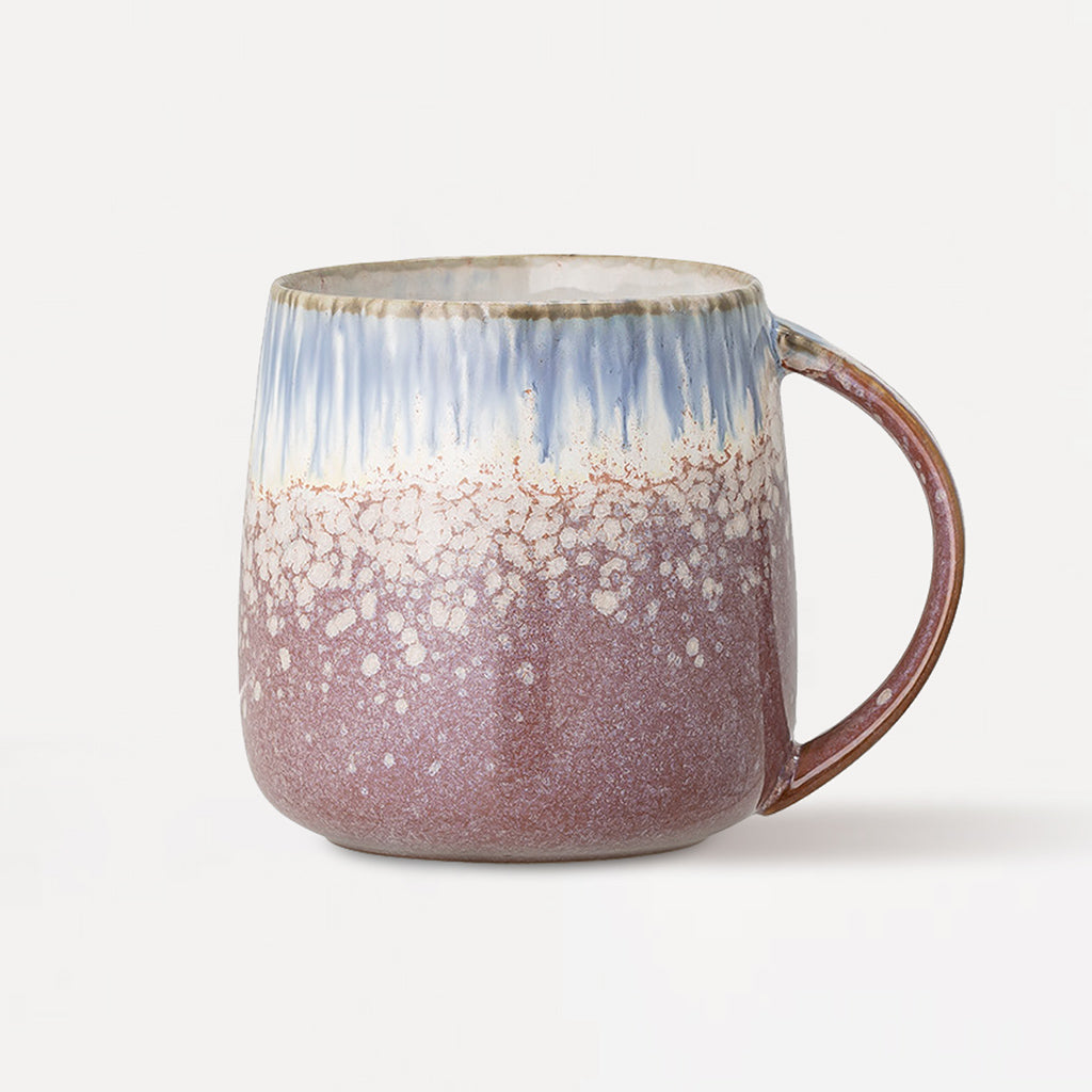 Blue & Purple Abstract Glaze Stoneware Mug