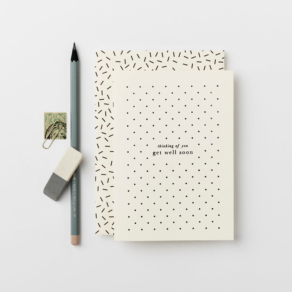 Katie Leamon Get Well Soon Polka Dots Card