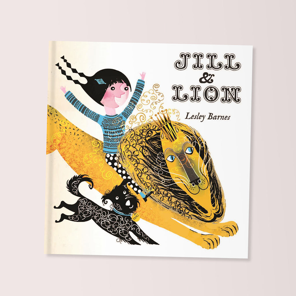 Jill and Lion Children's Book by Lesley Barnes