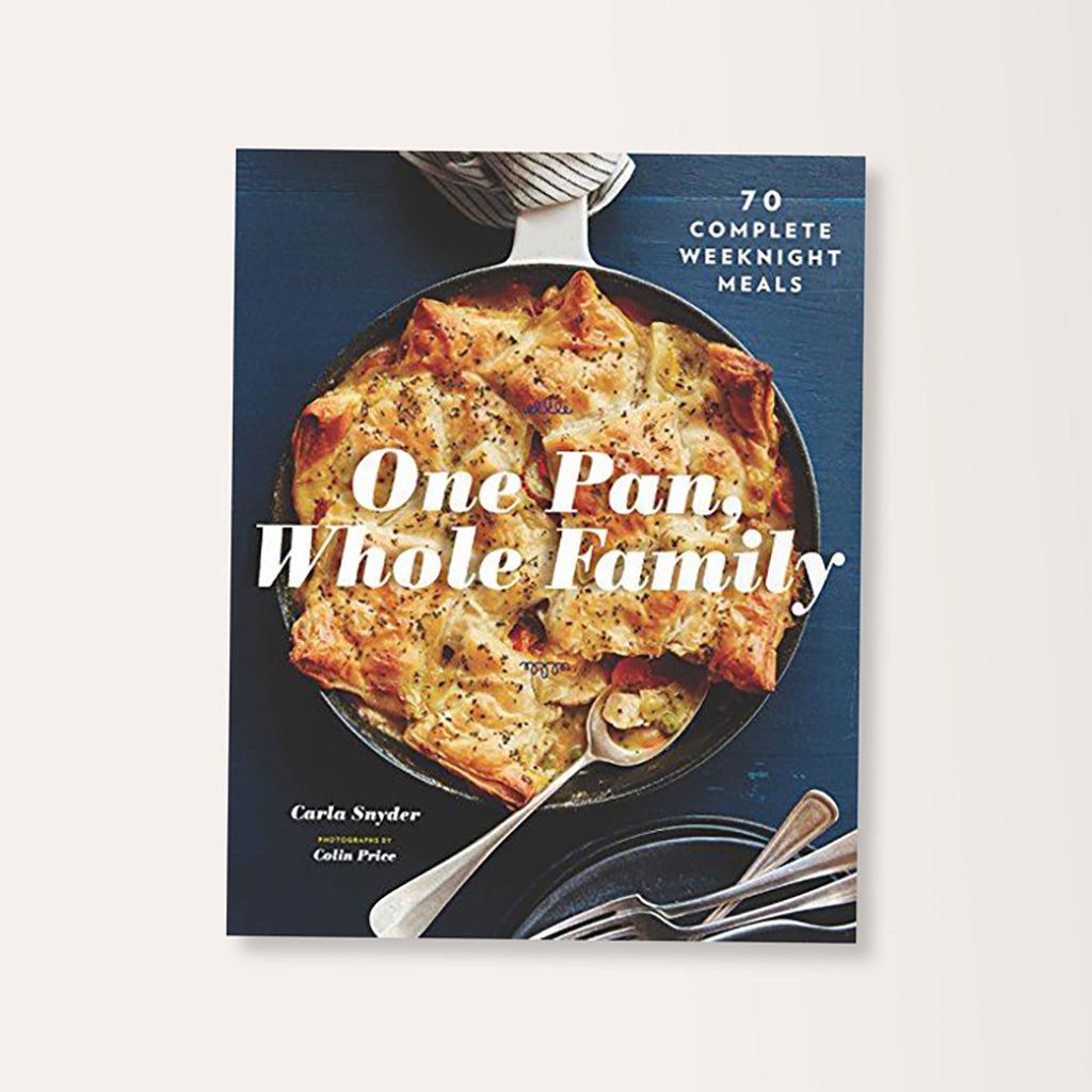 One Pan Whole Family Cookbook By Carla Snyder - Buy online or shop in the Jo & Co Lifestyle, Home and Furniture store in Wadebridge, North Cornwall, UK