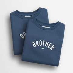 Bob & Blossom Denim Blue 'Brother' Children's Sweatshirt
