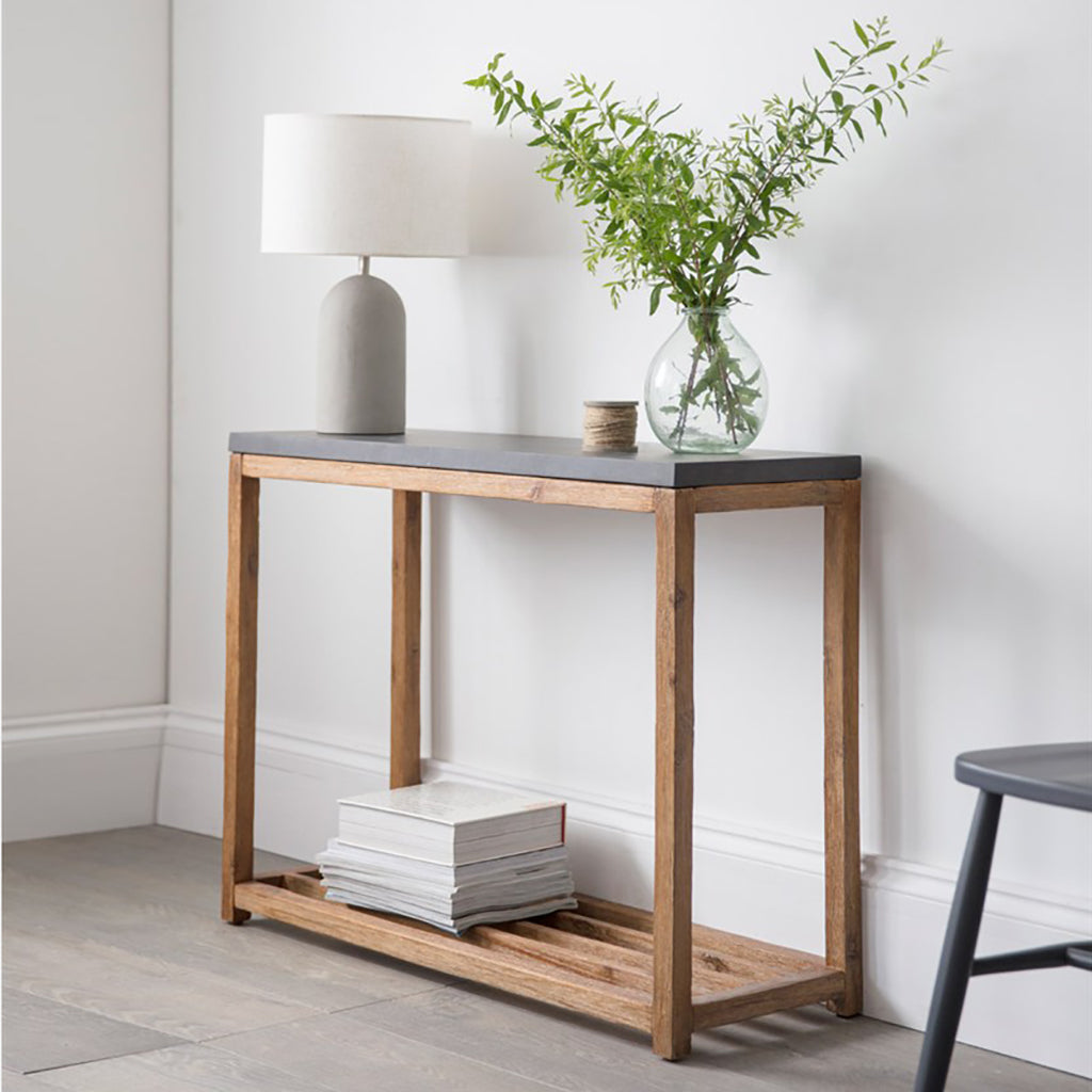 Large Cement Fibre Console Table