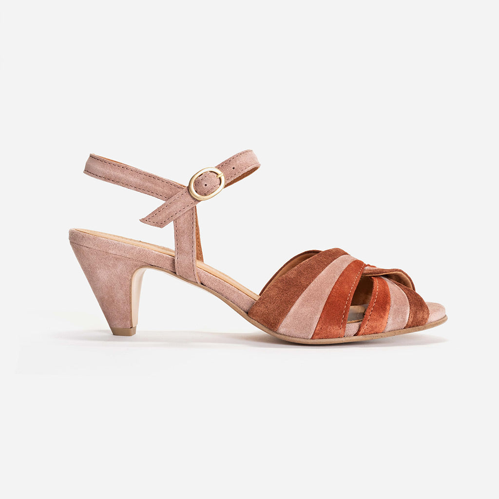 Anonymous Copenhagen Elin Burned Rose Suede Sandals