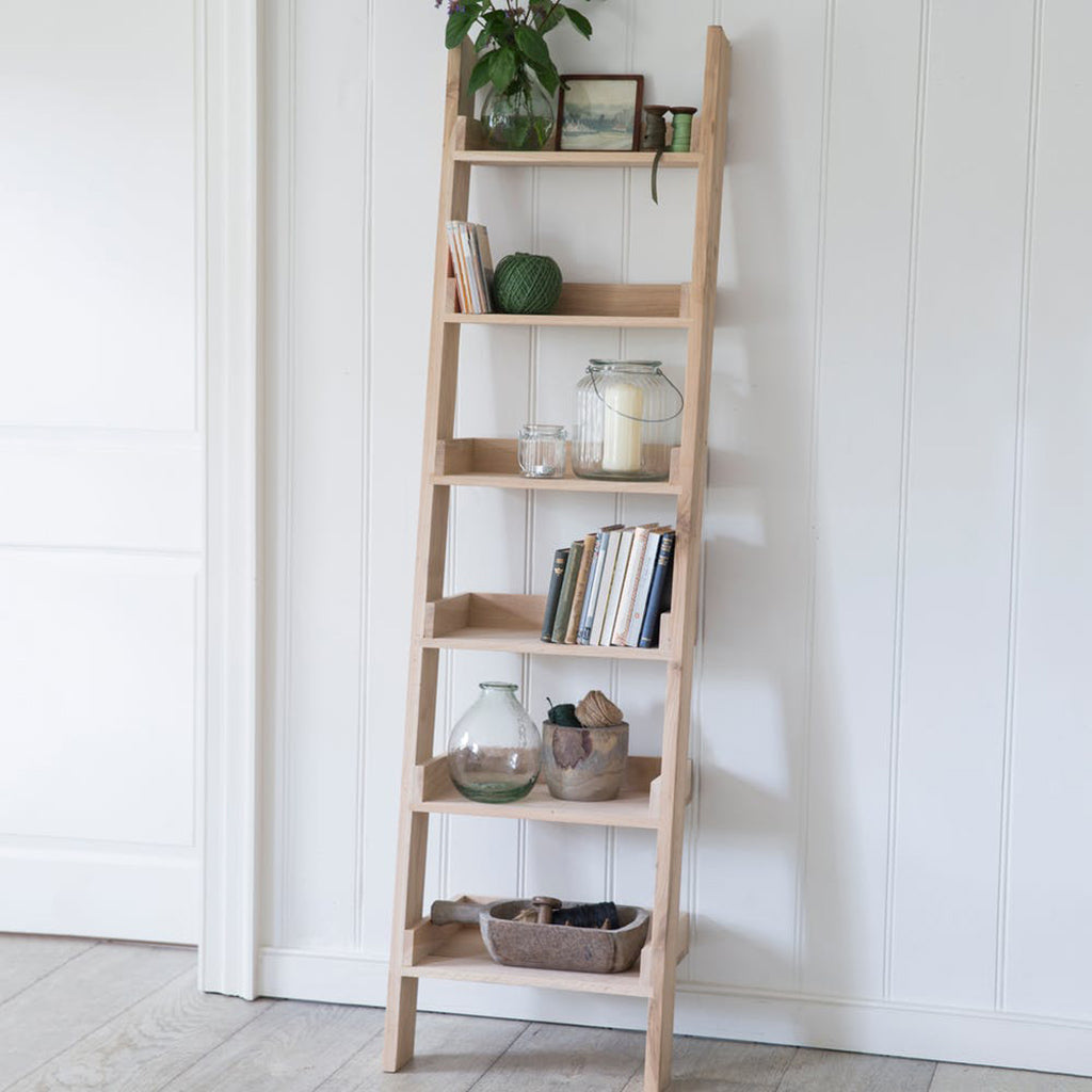 Shelf Ladder - Small Raw Oak
