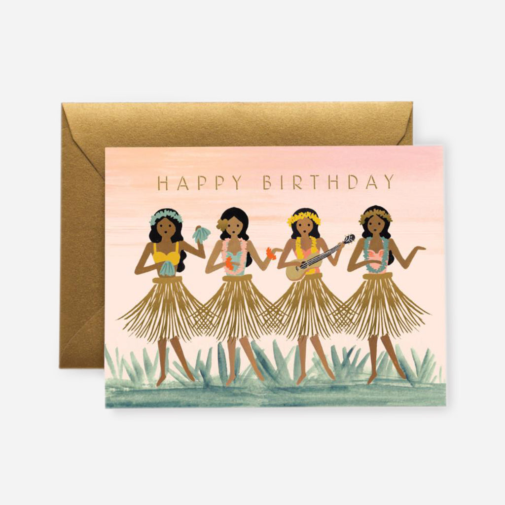 Rifle Paper Co. Hula Girl Birthday Card