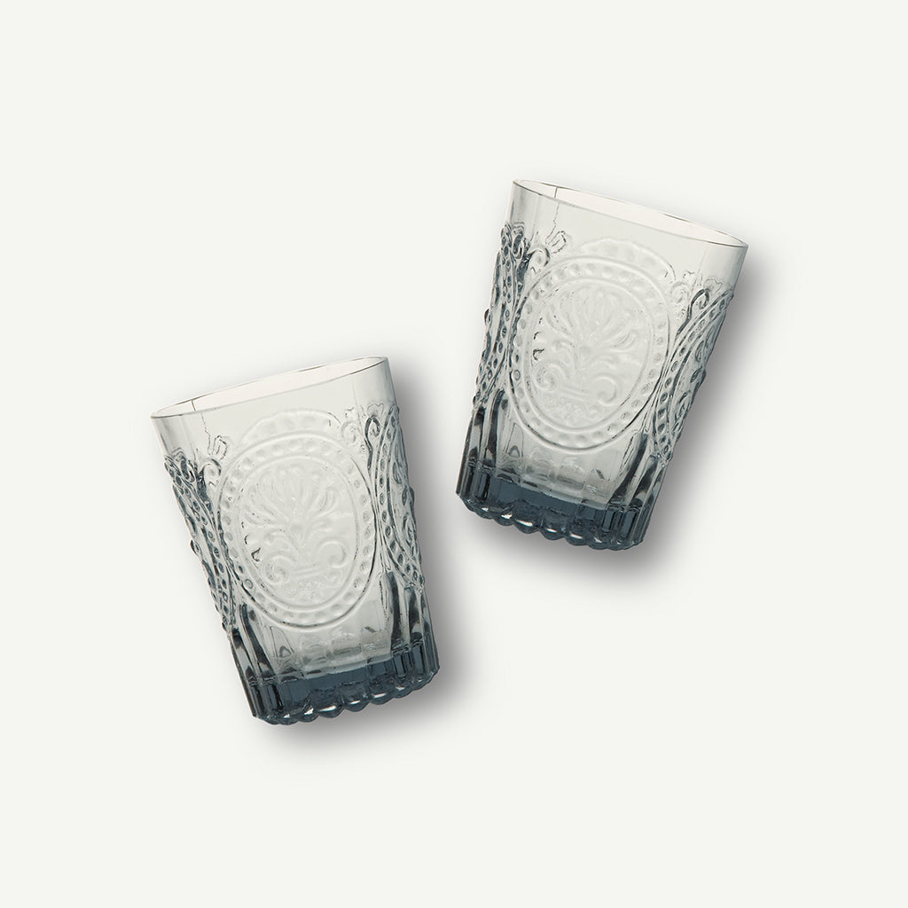 Fleur De Lys Small Grey Glass