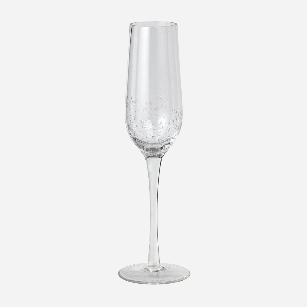 Clear Bubble Glass Champagne Flute