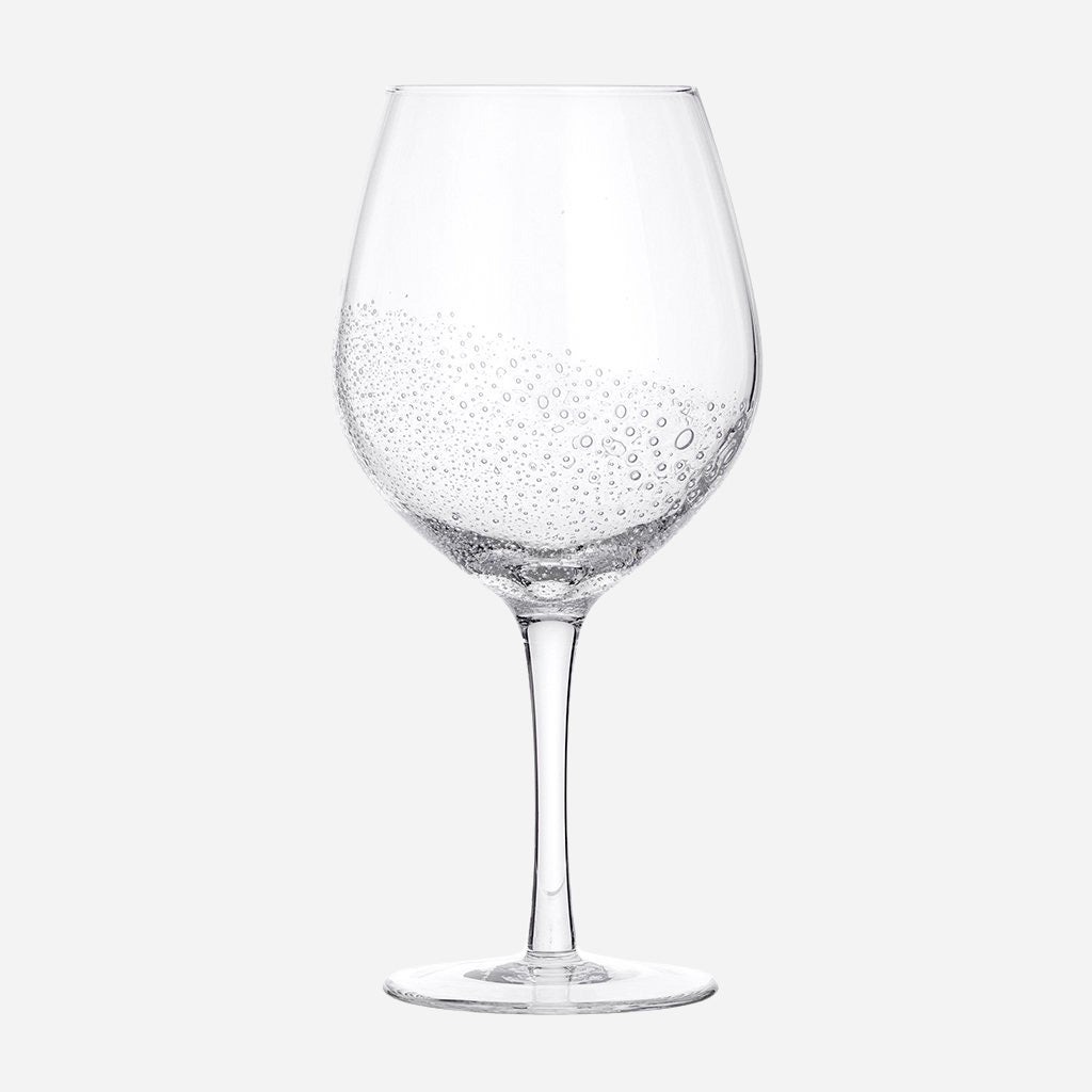 Clear Bubble Red Wine Glass