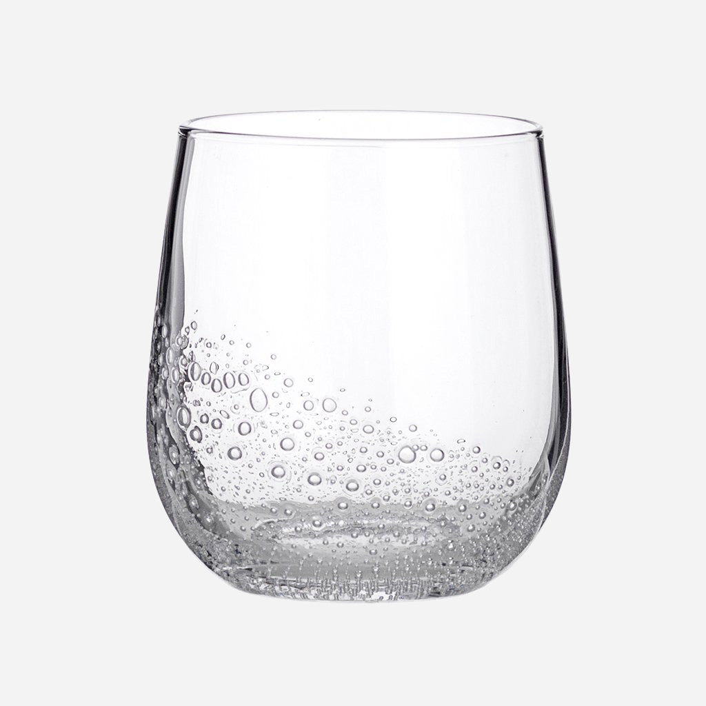 Clear Glass Bubble Tumbler