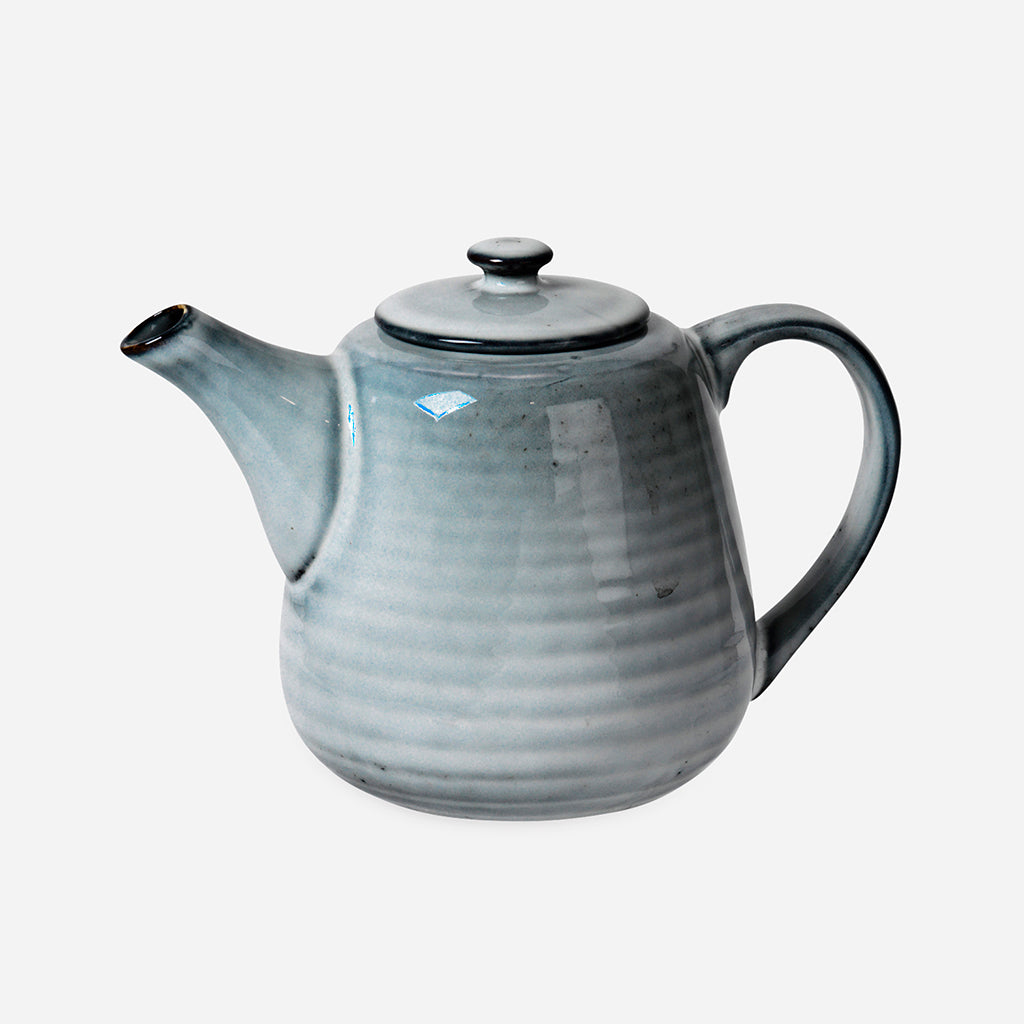 Nordic Sea Stoneware Tea Pot For One