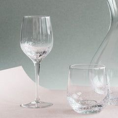 Broste Copenhagen Bubble White Wine Glass - Clear - Shop the full kitchen ware collection at Jo & Co Home, Cornwall