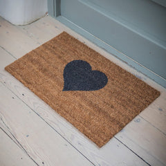 Small Coir Heart Doormat